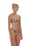 Alicudi - Bikini Top in Leopard Print