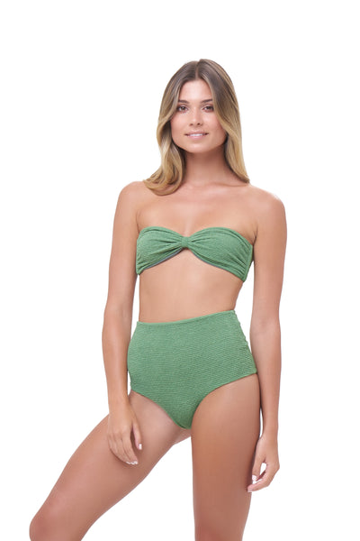 Cannes - High Waist Bikini Bottom in Storm Le Nuage Mer