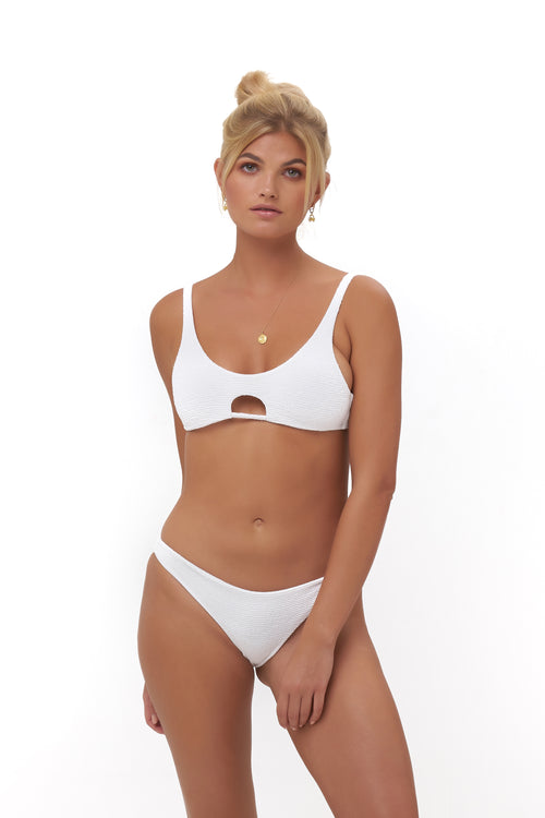 Alicudi - Bikini Top in Storm Le Nuage Blanc
