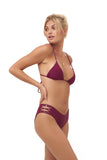 Playa Del Amor brief - Bikini Bottom in Wine