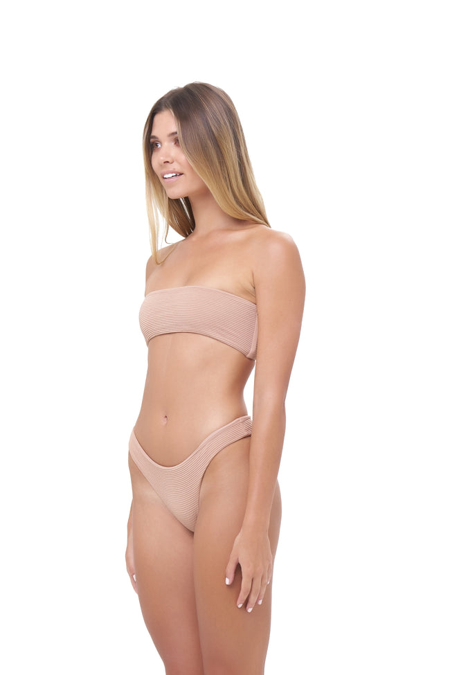 Ravello - Plain Bandeu Bikini Top in Storm Le Nuage Sable