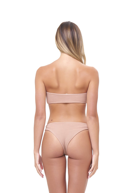 Corsica - High Waist Lace Up Brief in Storm Le Nuage Vert