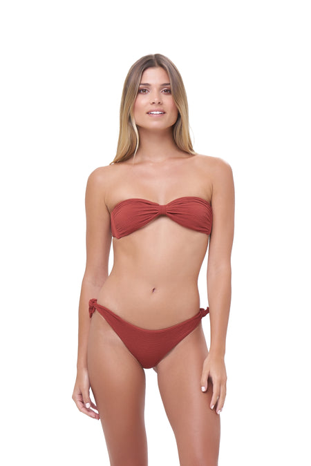 Mallorca - Triangle Bikini Top with removable padding In Storm Le Nuage Sable