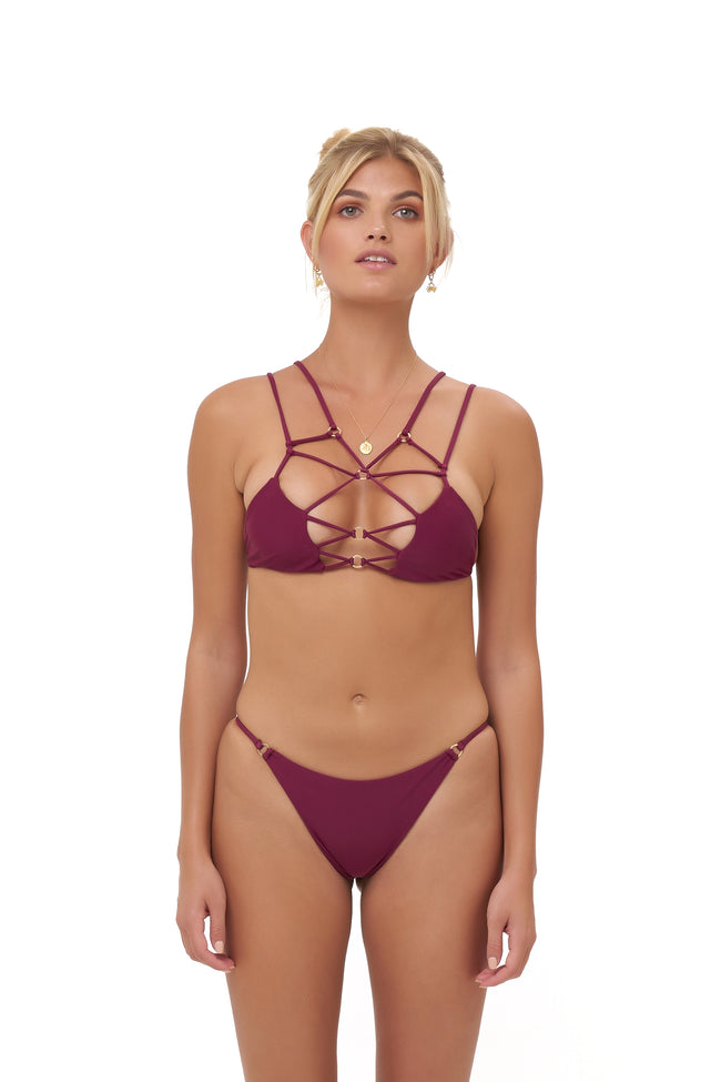 Cap Ferret - Bikini Top in Wine