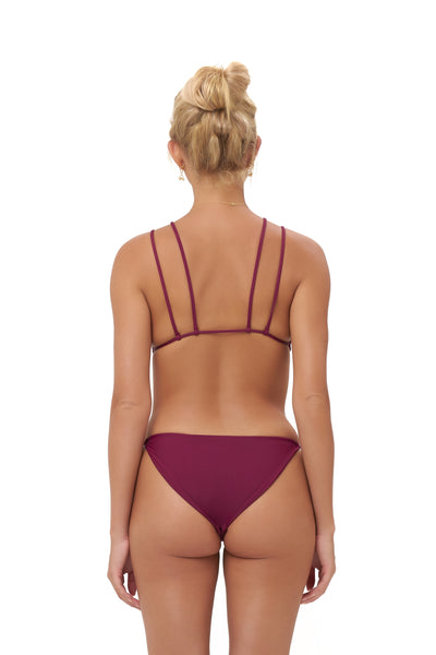 Cap Ferret - Bikini Bottom in Wine