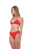 Isola Bella - Bikini Top in Storm Le Nuage Rouge
