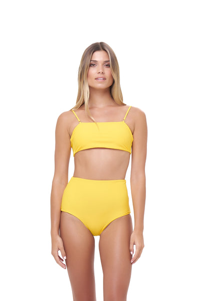 Cannes - High Waist Bikini Bottom in Citrus