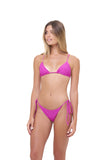 Formentera - Tie Side Bikini Bottom in Fuchsia