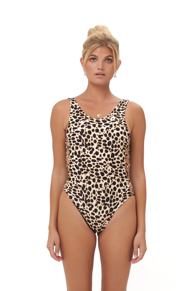 Play De Amor - One Piece Swimsuit in Cheetah Print