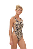 Playa Del Amor - One Piece Swimsuit in Cheetah Print