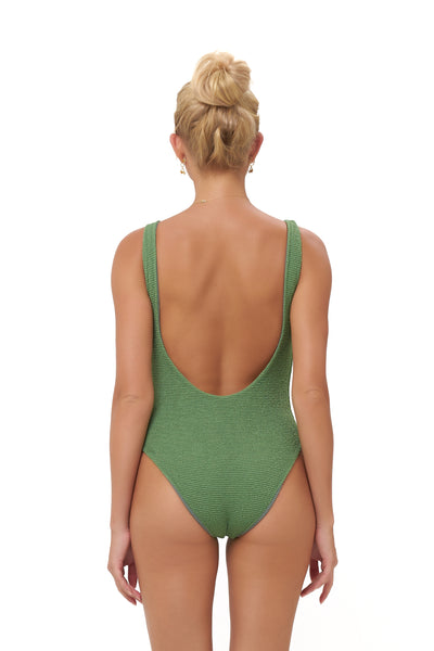 Corsica - Lace Up One Piece in Storm Le Nuage Mer