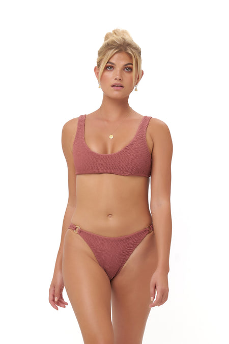 Balearic Island - Bandeu Bikini Top in Canyon Rose