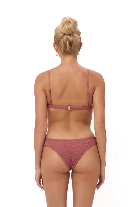 Cannes - High Waist Bikini Bottom in Fuchsia