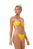 Corfu - Bandeu Elastic Shirring Bikini Top in Citrus