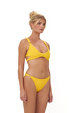 Lanzarote - bikini Bottom in Elastic Shirring in Citrus