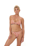 Lanzarote - bikini Bottom in Vintage Flower Red Print