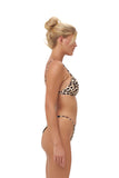 Mallorca - Triangle Bikini Top with removable padding in Cheetah Print