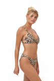 Sicily - Bikini Top in Cheetah Print