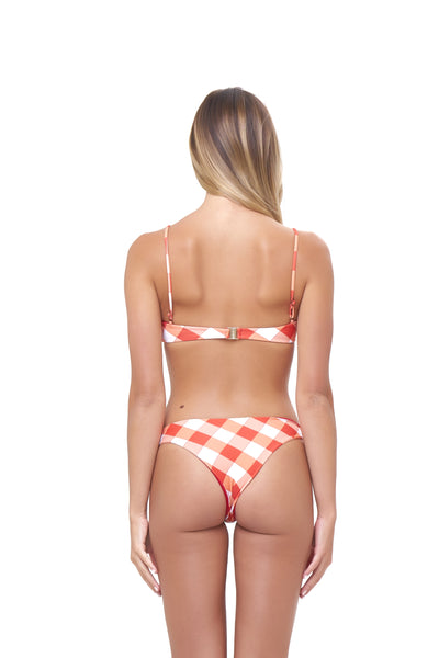 St Barts - Bottom in Rever Print - Flame Red