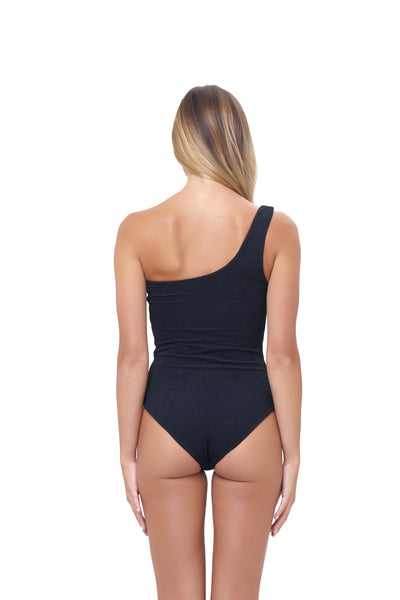 Cinque Terre - One shoulder One Piece in Storm Le Nuage Noir