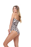 Cinque Terre - One shoulder One Piece in Leopard Print