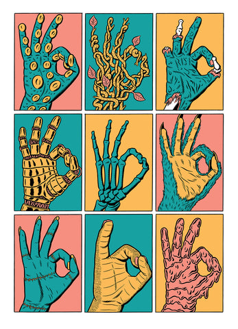 Hands (Screen print)