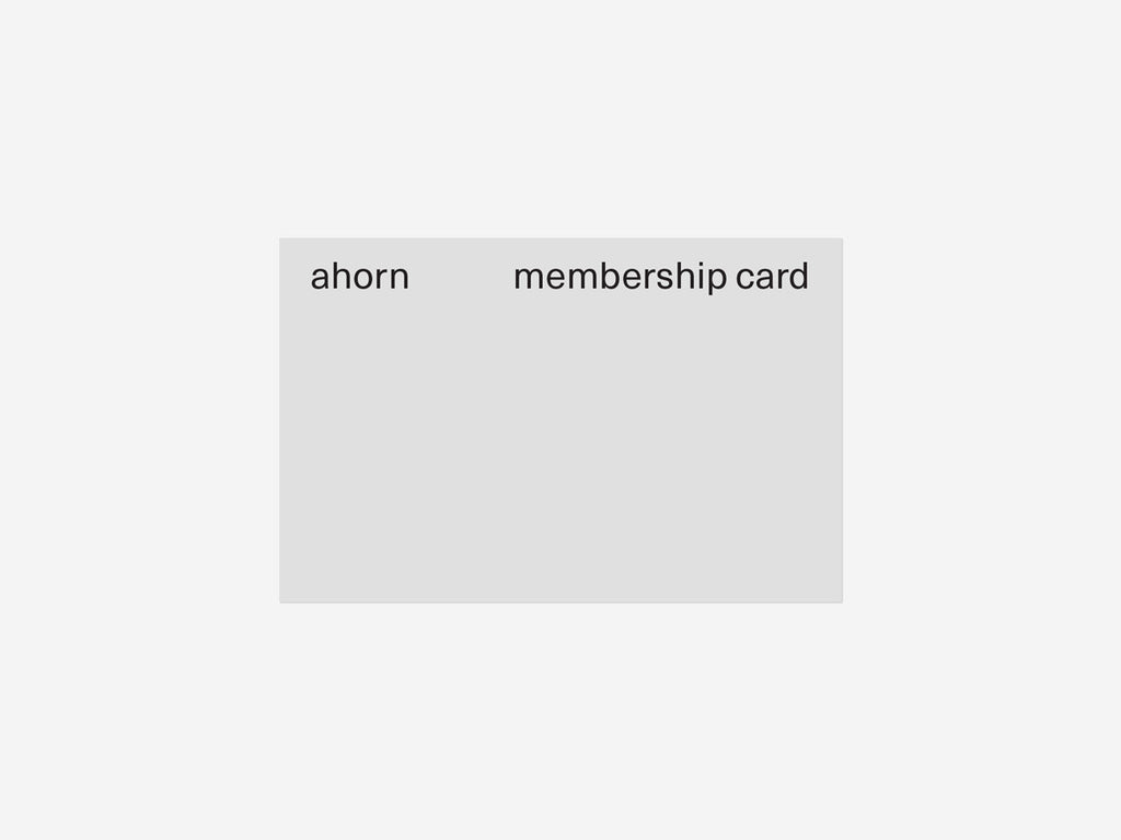 Ahorn Books - Membership Program