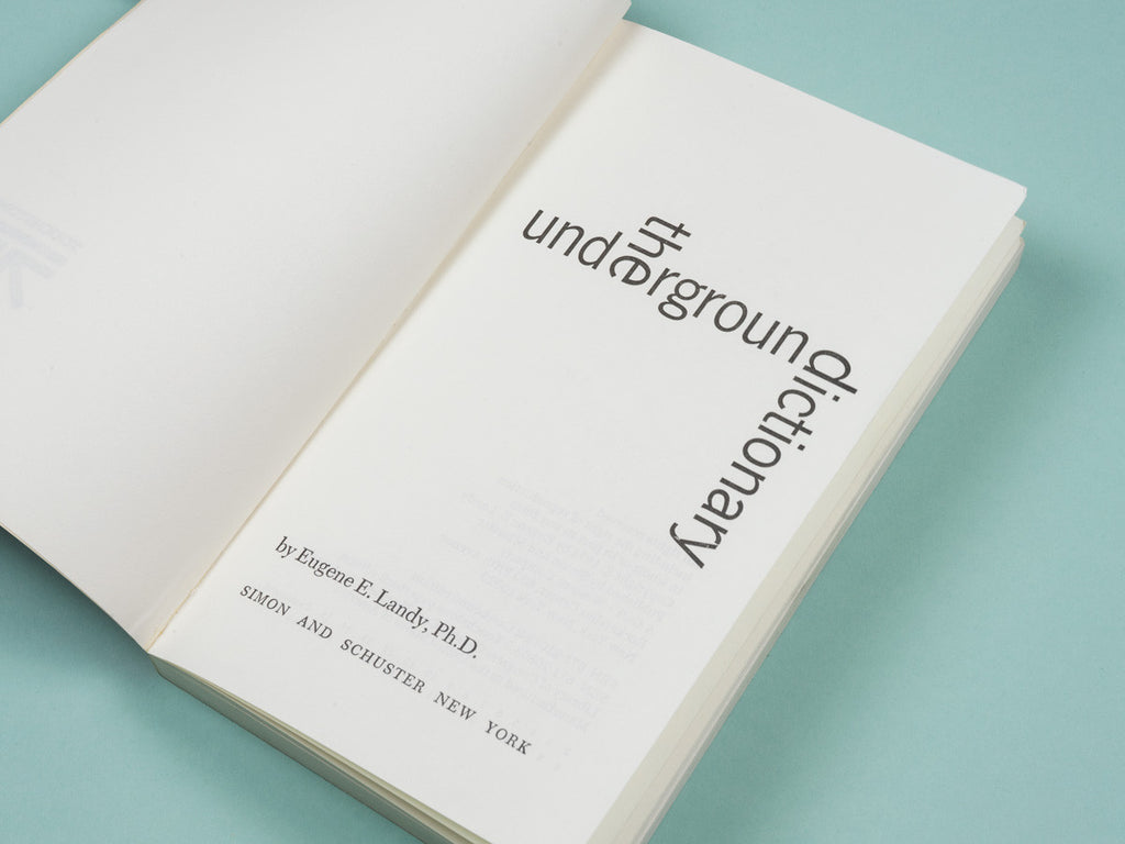 Eugene E. Landy, The Underground Dictionary
