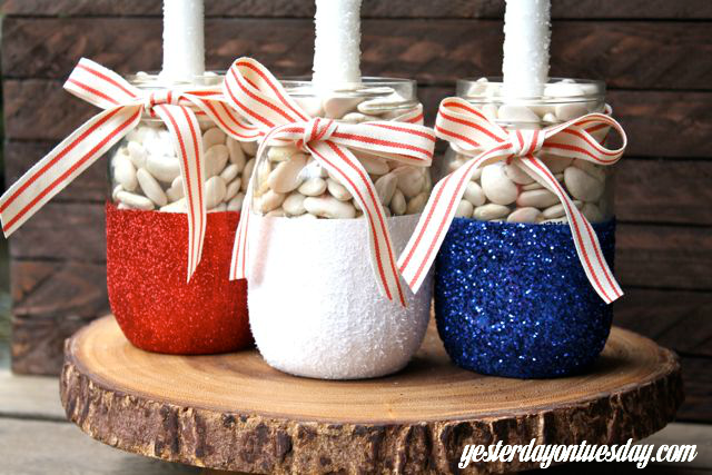 red white and blue crafts