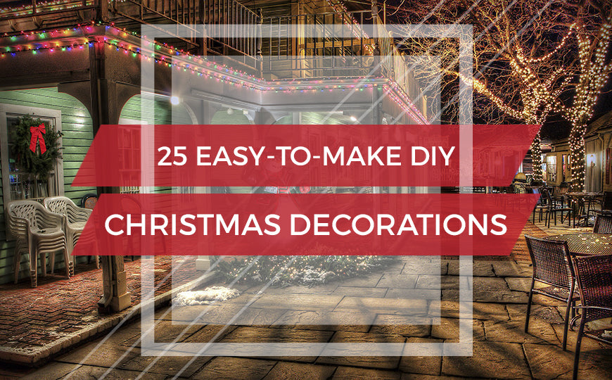 25 Easy-to-Make DIY Christmas Decorations