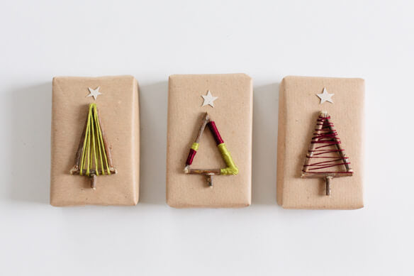 kraft wrapping paper ideas