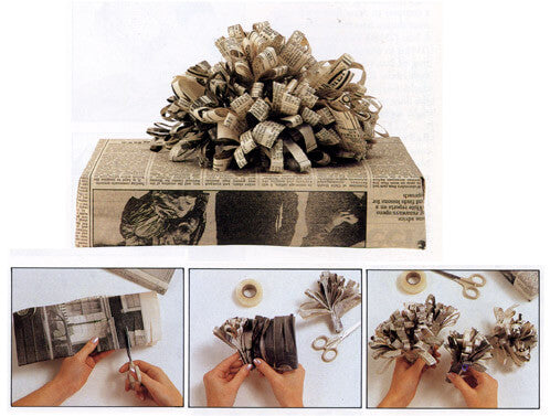 newspaper gift wrapping ideas