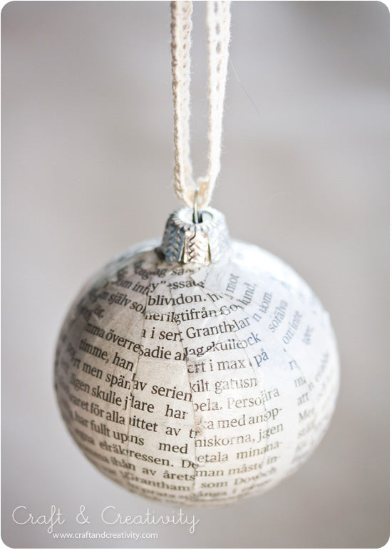 Newspaper Christmas Balls