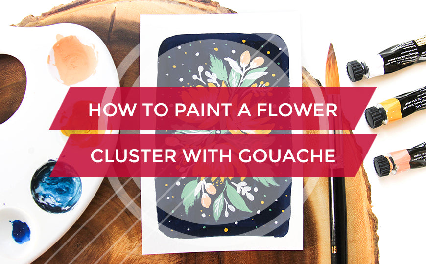 How to Paint a Flower Cluster with Gouache