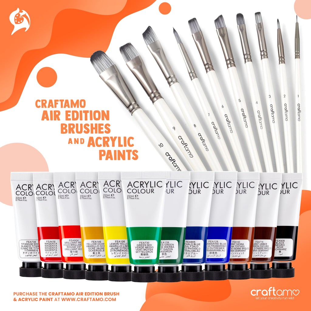 ACRYLIC PAINT & BRUSH BUNDLE