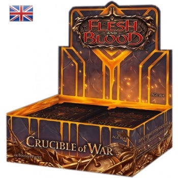 Flesh and Blood: Crucible of War First Edition - Unlimited Booster Display (24 Packs) (engl.)