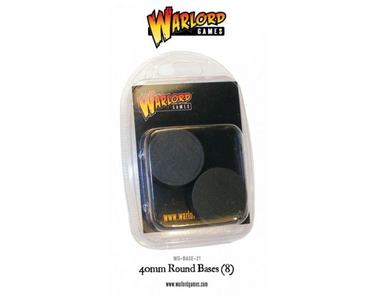 Warlord Games: 40mm Round Slotted Bases (8)