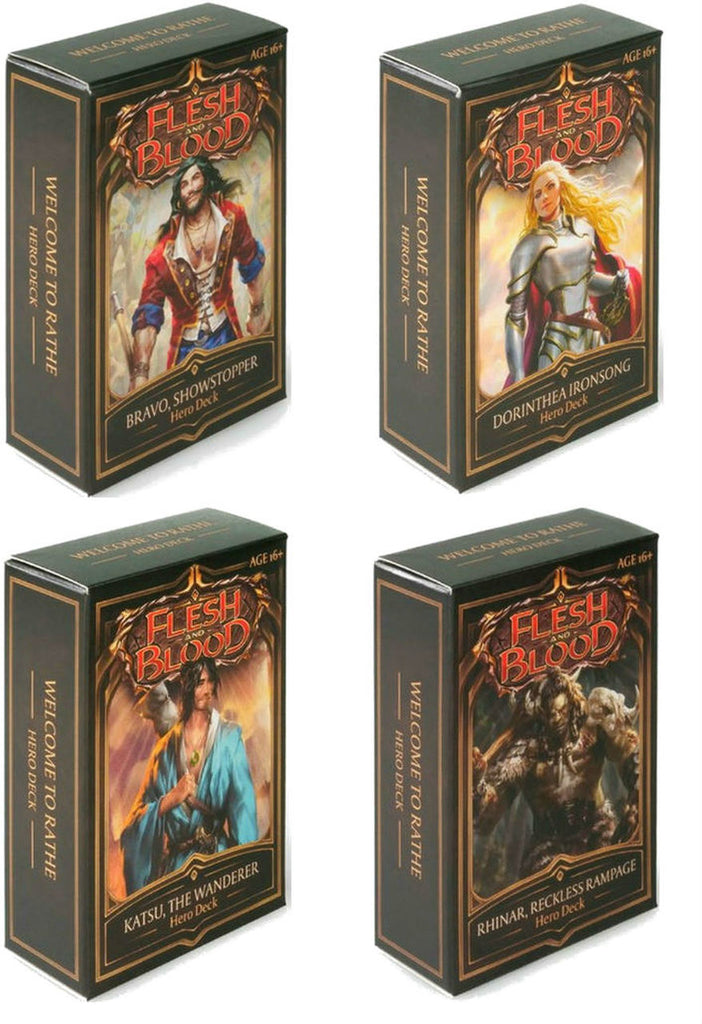 Flesh and Blood: Welcome to Rathe - 4 Hero Decks (engl.) - Preorder