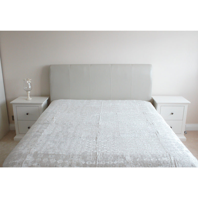 White Soofwork Cotton Flat Bed Sheet - Super King