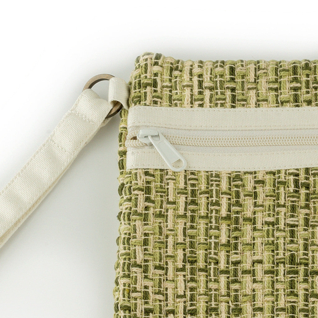 Carry Me Wristlet Green-Offwhite