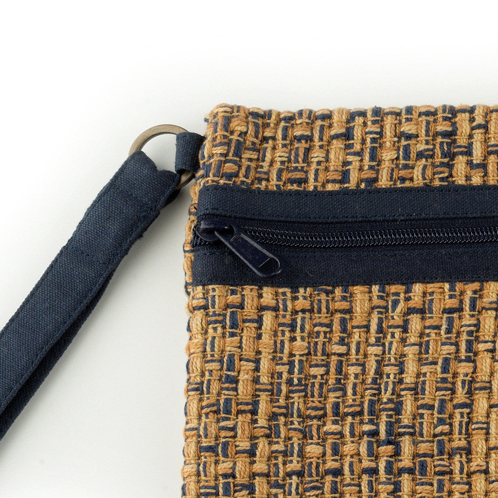 Carry Me Wristlet Brown-Blue