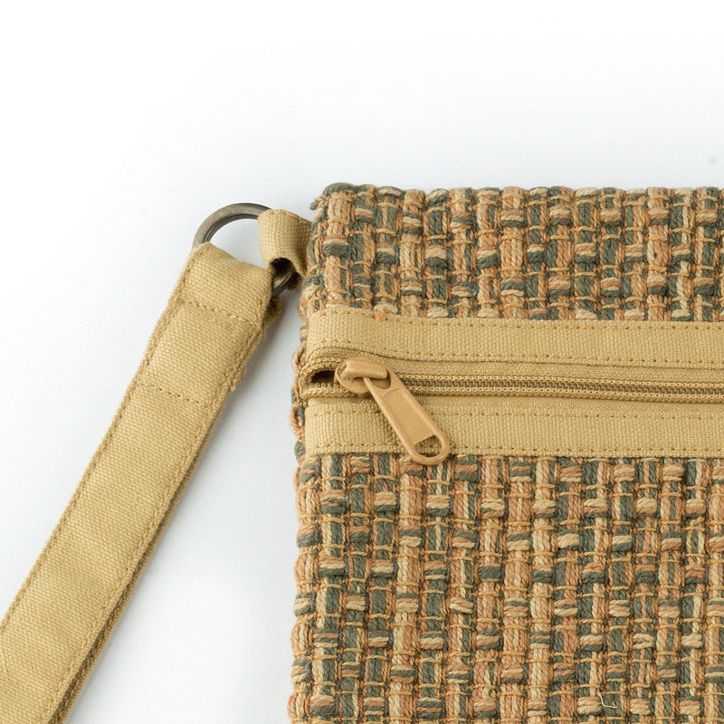 Carry Me Wristlet Green-Beige