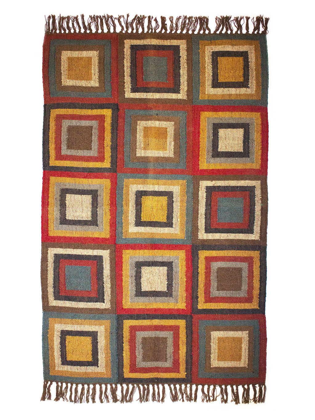 Concentric Magic Squares Multicolour Kilim - Medium