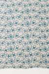 SVEZE Flower Print Linen Cotton Scarf - Blue - Flat Look