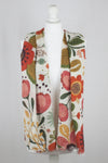 Retro FLoral Merino Wool Scarf - Off-White Multi