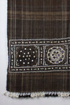 Handspun Handwoven Rabari Embroidered Wool Shawl - Brown