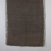 Twill Weave w/ Silver Lurex Border Merino Wool Scarf - Wood Brown