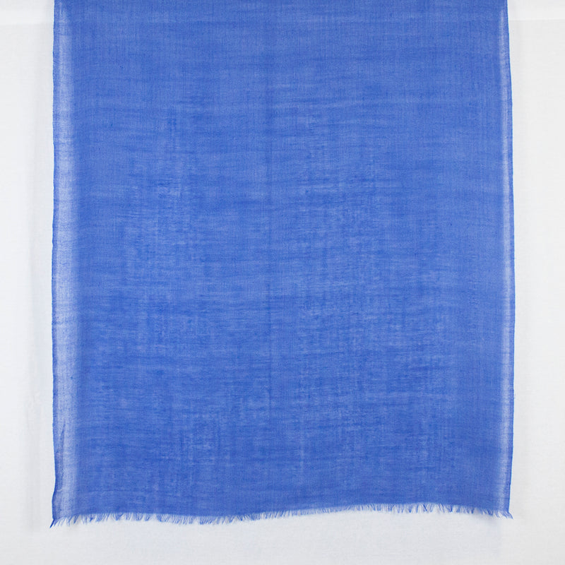 Gauze Weave Plain Merino Wool Scarf - Royal Blue