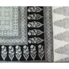 Checks Mix and Floral Bagh Hand-block Print Flat Bed Sheet and Pillowcase Set - White Black