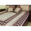 Ambi Paisley Mix Bagh Hand-block Print Flat Bed Sheet and Pillowcase Set - White Black Red